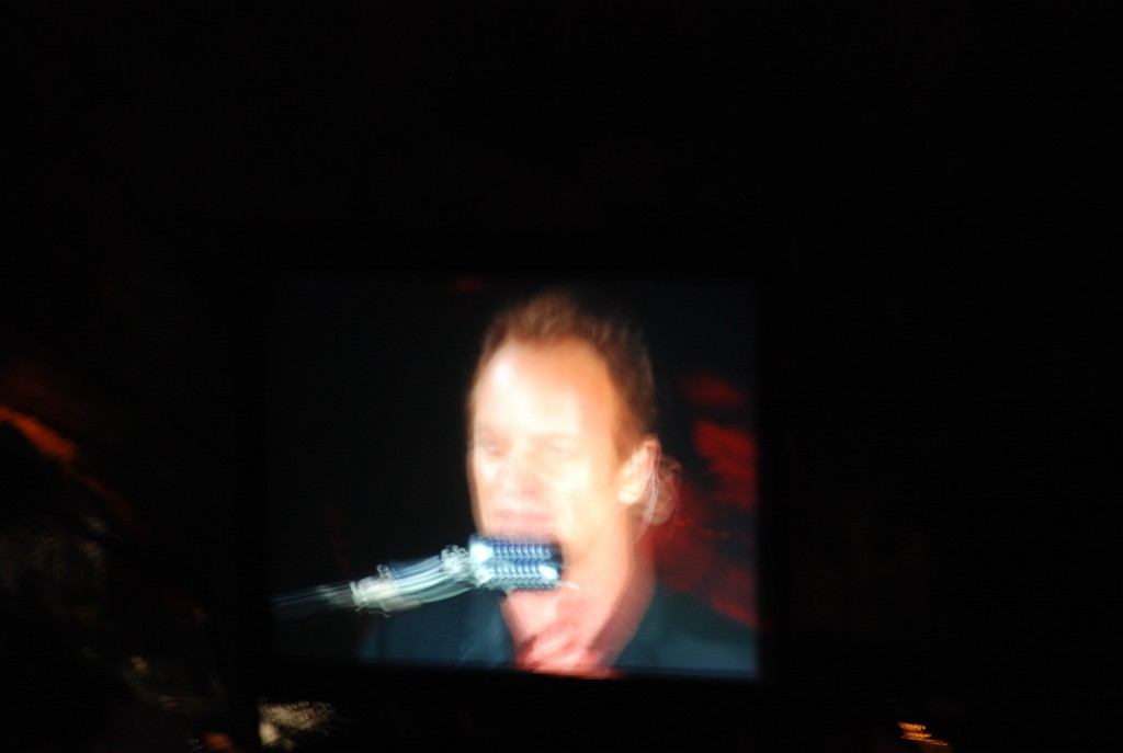 STING AT HOLLYWOOD BOWL SINGING DURING SYMPHONICITY TOUR