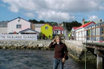 Me at the Falkland islands Port Stanley