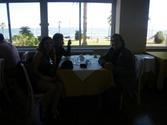 DIrector Eliseo Subiela, Horoscope guru Ludovica Squirru and myself