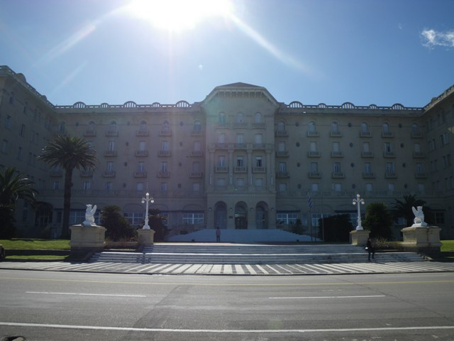 A view of ARgentino Hotel in Piriapolis, Uruguay on a sunny winter day.