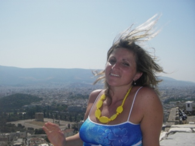 Me at the top of the Acropolis