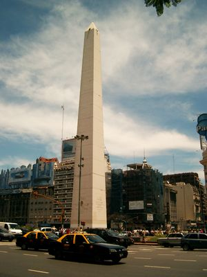 The Obelisk in downtown Buenos Aires