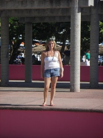 Girl at a park in Huatulco