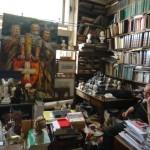 Inside the antique book shop
