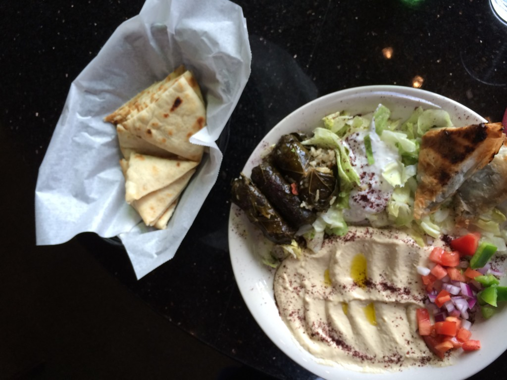 Middle Eastern appetizers at The Grape Leaf