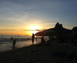 Morro Dois Irmaos, Ipanema Sunset